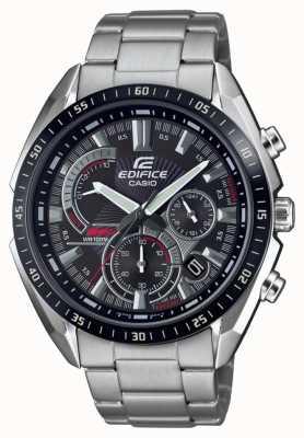Casio | édifice | bracelet en acier | chronomètre | cadran noir EFR-570DB-1AVUEF
