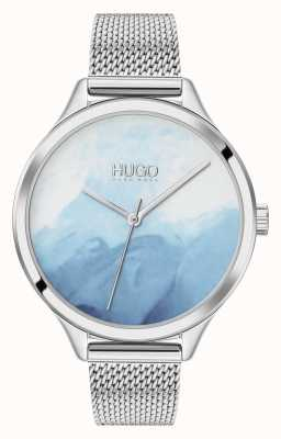 HUGO #smash | cadran bleu blush | maille d'acier inoxydable 1540061