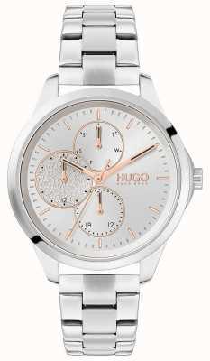 HUGO # intrépide | cadran argenté | bracelet en acier inoxydable 1540048