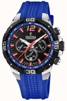 Festina Chrono bike 2020 cadran noir bracelet bleu F20523/1
