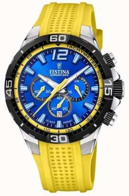 Festina Chrono bike 2020 cadran bleu jaune F20523/5
