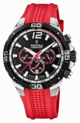 Festina Chrono bike 2020 cadran noir bracelet rouge F20523/7