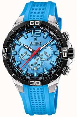 Festina Chrono bike 2020 cadran bleu bracelet bleu F20523/8