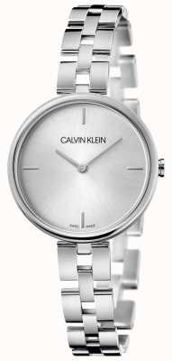 Calvin Klein Élégance | bracelet en acier inoxydable | cadran argenté KBF23146