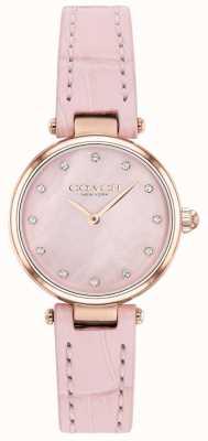 Coach | parc des femmes | bracelet en cuir de veau blush | cadran en nacre 14503537