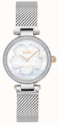 Coach | parc des femmes | bracelet en maille d'acier | cadran fleur | 14503510