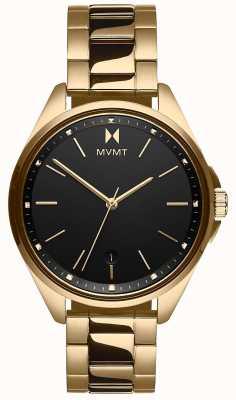 MVMT | coronada pour femmes | bracelet en acier doré | cadran noir 28000005-D