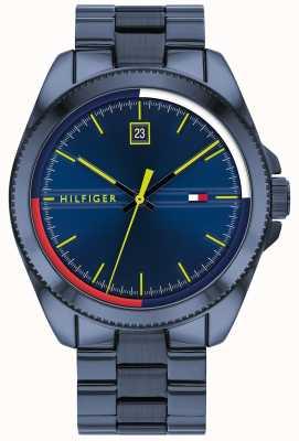 Tommy Hilfiger Riley | bracelet en acier bleu ip | cadran bleu 1791689
