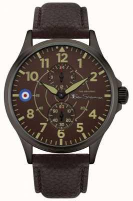 Ben Sherman | bracelet en cuir marron pour homme | cadran marron BS027BR
