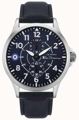 Ben Sherman | bracelet en cuir bleu pour homme | multi-cadran bleu BS027U
