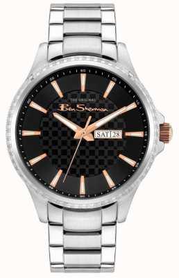 Ben Sherman Bracelet homme en acier inoxydable argent | cadran noir BS029BSM