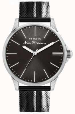 Ben Sherman | bracelet maille acier bicolore pour homme | cadran noir BS032BSM
