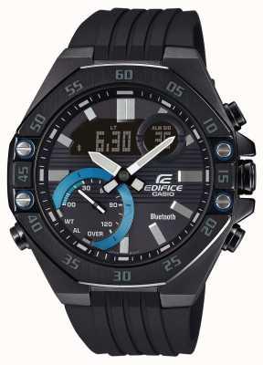 Casio Edifice | bracelet en caoutchouc noir | lien smartphone | Bluetooth ECB-10PB-1AEF