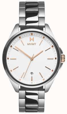 MVMT | coronada pour femmes | bracelet en acier inoxydable | cadran blanc 28000001-D