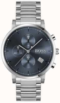 BOSS | l'intégrité des hommes | bracelet en acier inoxydable | cadran bleu 1513779