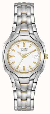 Citizen Femmes à deux tons avec écouteur blanc à cadran EW1254-53A