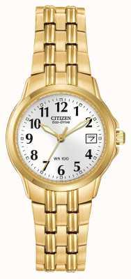 Citizen Boîtier plaqué or Mesdames et bracelet Eco-Drive EW1542-59A