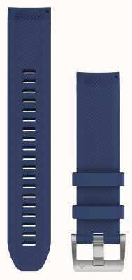 Garmin Bracelet caoutchouc bleu marine Quickfit 22 marq 010-12738-18