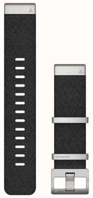 Garmin Bracelet en tissage jacquard noir Quickfit 22 marq 010-12738-21