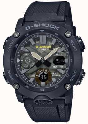 Casio G-shock | bracelet en caoutchouc | cadran camouflage GA-2000SU-1AER