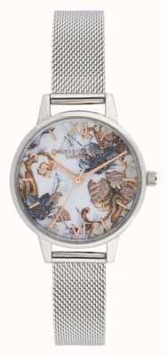 Olivia Burton Fleurs en marbre | bracelet femme en maille d'acier | cadran fleuri OB16CS16