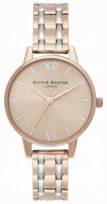 Olivia Burton | la collection angleterre | bracelet en acier bicolore | OB16EN02