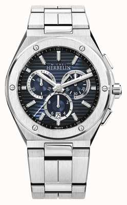 Michel Herbelin | casquette pour homme camarat | bracelet en acier inoxydable | cadran bleu 37645/B15