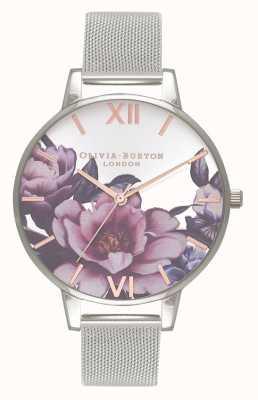 Olivia Burton Salon des femmes | grand cadran pivoine | bracelet en maille d'argent OB16PL60