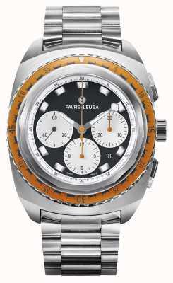 Favre Leuba Ciel de mer Raider | bracelet en acier inoxydable | cadran noir / blanc 00.10103.08.13.20