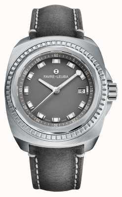 Favre Leuba Raider Sea King | bracelet en cuir antilope gris | cadran gris 00.10107.08.41.45