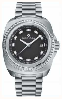 Favre Leuba Raider Sea King | bracelet en acier inoxydable | cadran noir | 00.10107.08.11.20