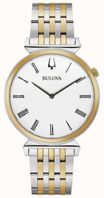 Bulova Hommes | régate | bracelet en acier inoxydable deux tons | 98A233