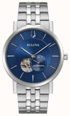 Bulova Clipper Amérique | automatique | cadran bleu | acier inoxydable 96A247