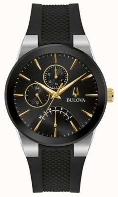 Bulova Hommes | futuro | cadran noir | bracelet en caoutchouc noir 98C138