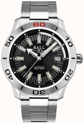 Ball Watch Company Pompier noir necc   bracelet en acier inoxydable   cadran noir DM3090A-S3J-BK