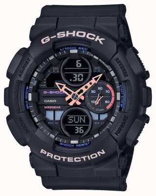 Casio Cadran multicolore unisexe G-shock | bracelet noir GMA-S140-1AER