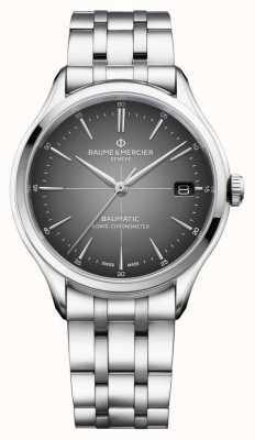 Baume & Mercier Clifton baumatic | certifié cosc | cadran gris ardoise | M0A10551