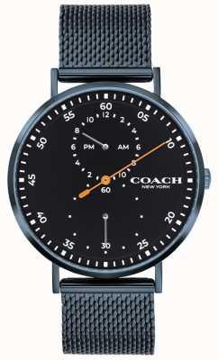 Coach Montre bracelet Charles en maille bleue 14602478