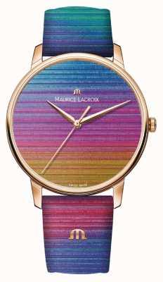Maurice Lacroix Edition limitée arc-en-ciel Eliros | bracelet en cuir arc-en-ciel EL1118-PVP01-090-1