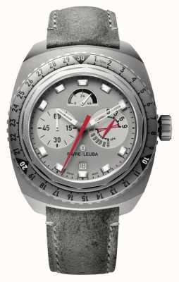 Favre Leuba Raider bivouac 9000 | bracelet en cuir antilope gris 00.10105.06.45.45