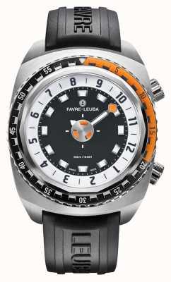 Favre Leuba Harpon Raider 46 | bracelet en caoutchouc noir 00.10101.08.13.31
