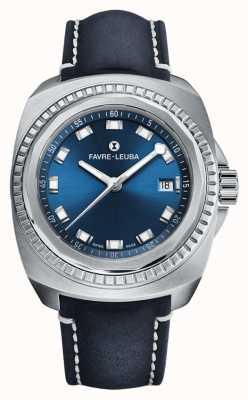 Favre Leuba Raider Sea King | cadran bleu | cuir antilope bleu 00.10107.08.51.46