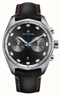Favre Leuba Chronographe Chief Sky Chief | bracelet en cuir noir 00.10202.08.11.41