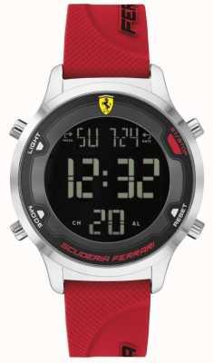 Scuderia Ferrari Digitack pour homme | bracelet en caoutchouc rouge | cadran numérique noir 0830757