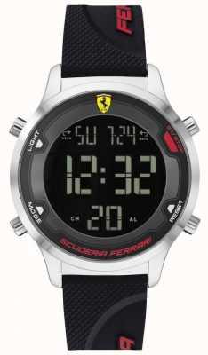 Scuderia Ferrari Digitack pour homme | bracelet en caoutchouc noir | cadran numérique noir 0830756