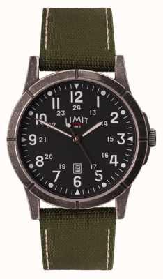 Limit Bracelet en toile verte pour homme | cadran noir | boîtier en alliage 5790.01