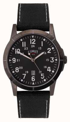 Limit Bracelet en toile noire pour homme | cadran noir | boîtier en alliage 5791.01