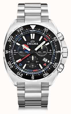 Delma Chronographe à quartz Oceanmaster   bracelet en acier inoxydable 41701.678.6.038