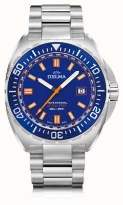 Delma Quartz étoile coquille | cadran en acier inoxydable | cadran bleu 41701.676.6.041
