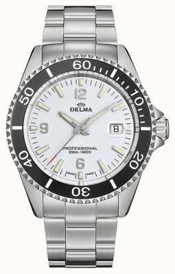 Delma Quartz de Santiago   bracelet en acier inoxydable   cadran blanc 41701.562.6.014